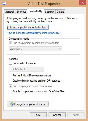 videotestcompatibility